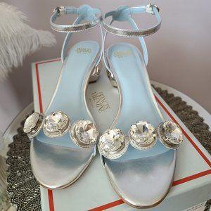 Authentic Frances Valentine Silver Beatrix Sandal